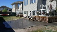 Paving stone patios, pathways and driveways