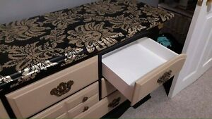 Matching dresser and night side table