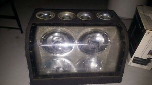 Dual ten inch subs with built in illuminating lights