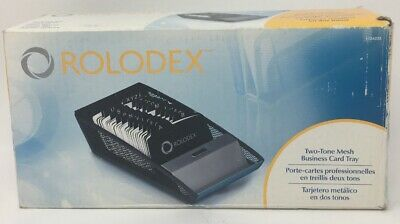 Rolodex Two-tone Mesh Business Card Tray Card File