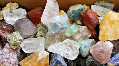 1000 Carat Lot Bulk Mixed Crafters Gems Crystal Natural Rough Raw Mineral Rocks