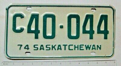 1974 Saskatchewan Commercial License Plate C40-044