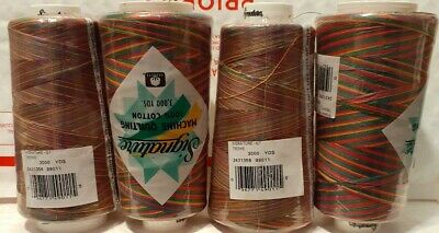 Signature Machine Quilting Variegated Thread 3,000 Yards 100% Cotton 40 Wt. SALE Variegated Cotton Quilting Thread