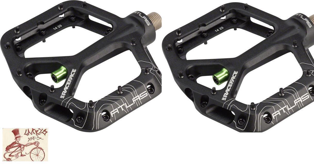 New Race Face Atlas Platform Pedals 9//16-inch Green