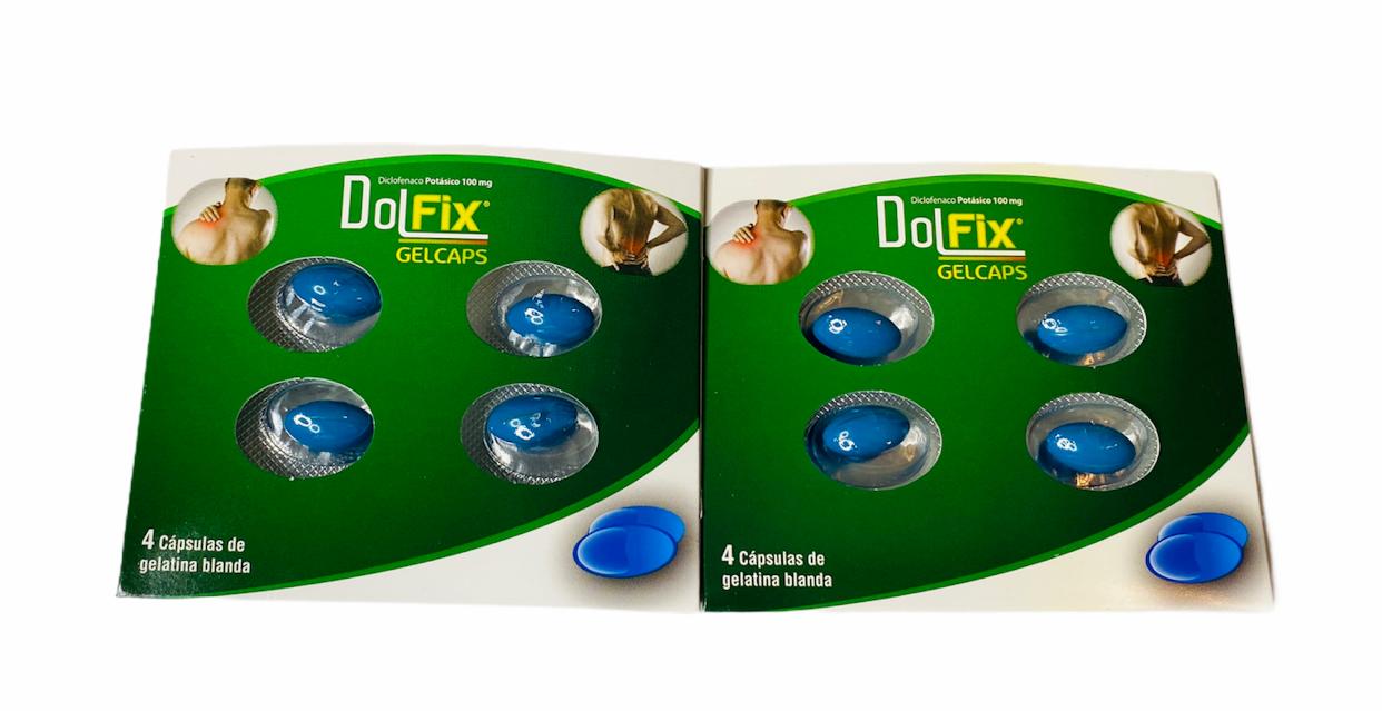 DOL FIX 8 Pastillas para dolor, artritis, inflamación y reumatismo