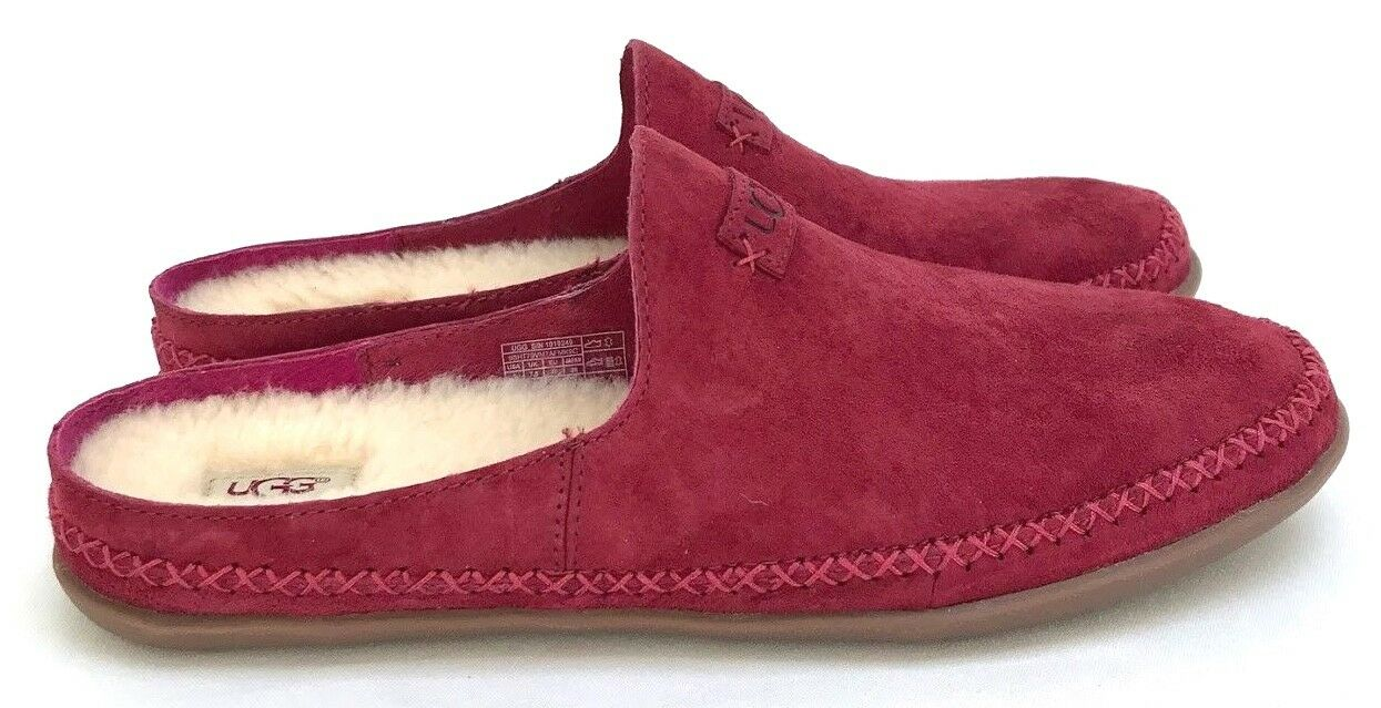 Ugg Tamara Suede Garnet Luxurious Natural Wool Women's SlipO