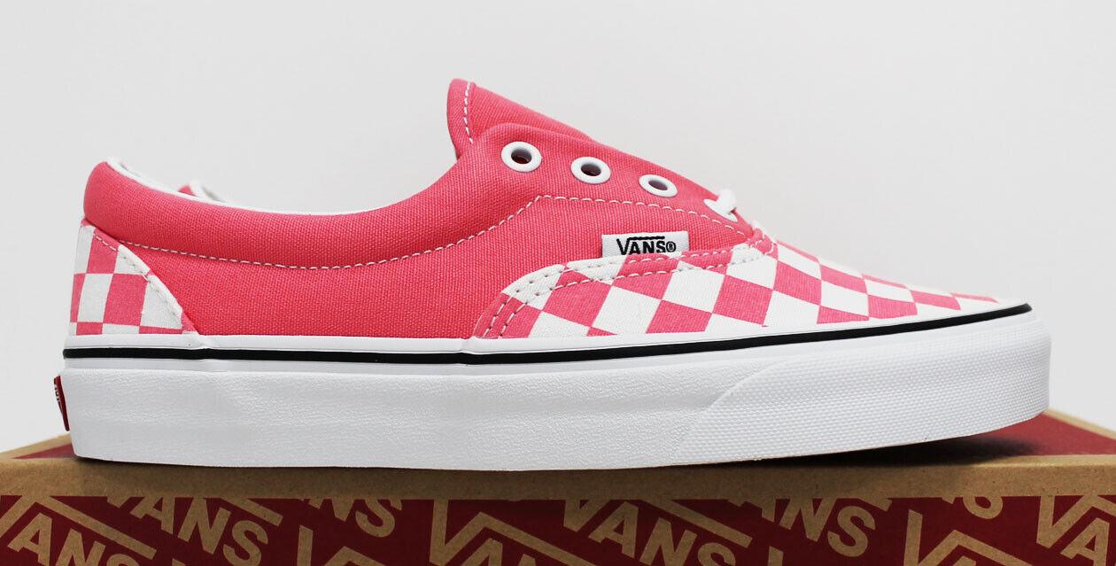 NIB VANS Women's Era Pink Checkerboard Strawberry Low Top La