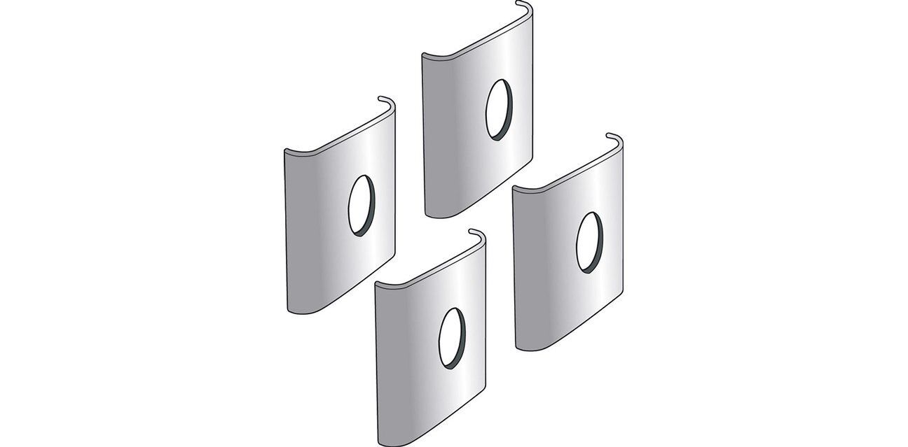 KIS Kit in metallo x fissaggio a muro di scaffali Pratico 4Pz viti incluse nuovo