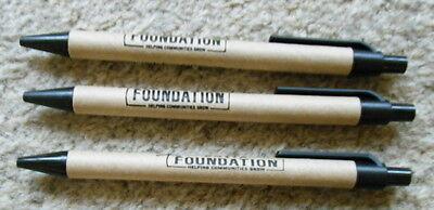 3 x Costa Coffee Foundation Promotional Pens Helping Communities Grow Free P&P