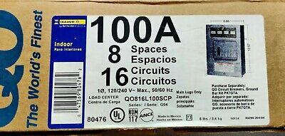 Square D 100-amp Qo816l100scp 8-space 16 Circuit Indoor Panel Box