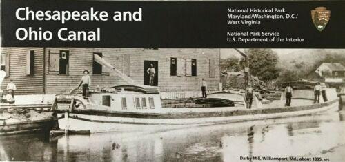 CHESAPEAKE and OHIO CANAL  C & O  NATIONAL PARK SERVICE UNIGRID BROCHURE Map  #B