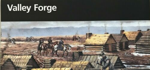 New VALLEY FORGE NHP - PA   NATIONAL PARK SERVICE UNIGRID BROCHURE  Map