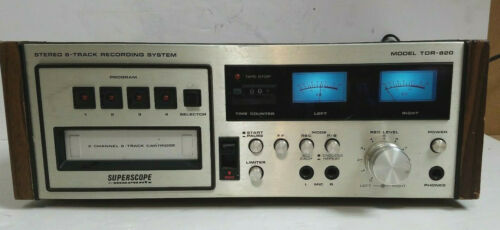 VTG Superscope Marantz TDR-820 Stereo 8-Track Recdg. System (Powers on)