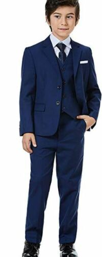 NWT WEIQIHAN TODDLER BOYS BLUE 5 PC FORMAL SUIT SET SIZE 3T