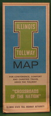 Vintage Illinois Tollway Map And Information Pamphlet Chicago Area 1969   1973