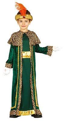 Jungen Grünen König Weiser Mann Herren Weihnachten Krippe Verkleidung - Herren Grün Weiser Mann Kostüm