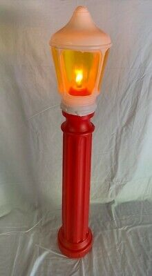 "Union Lamp 40"" Post Red Christmas Blowmold Lighted"