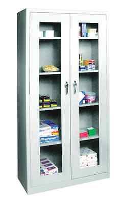 Dental Medical Supply Storage Cabinet Wsteel Structure Locking Doors