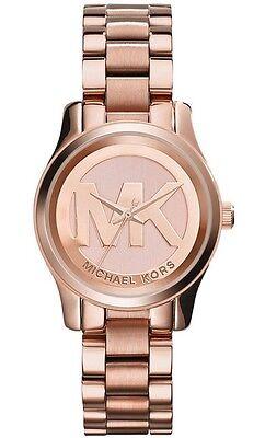 Michael Kors Women's Mini Runway Rose Gold 33mm Bracelet Watch MK3334