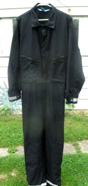 Vintage Topps Safety Apparel Firefighter Coveralls Nomex  XL-Reg  46-48 Black