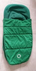 Green bugaboo footmuff