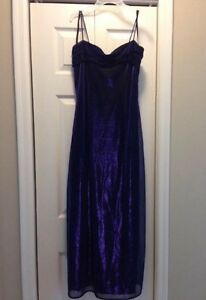 Navy/blue/purple gown