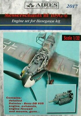 Aires 1/32 Messerschmitt Bf109G-6 Engine Set for Hasegawa kit 2017