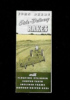 1952 John Deere 594lw 594 Steel Wheel Side Delivery Rakes Sales Brochure Nice