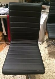 dwell black leather chair