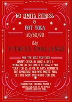 No Limits Fitness 30/60/90 Day Fitness Challenge  Many Prizes !!