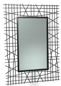 Black Stylish Iron Mirror