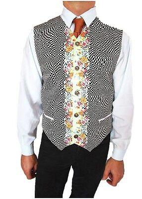 VERSACE New Mens Vtg Rare Fashion Cotton Floral Print Vest Waistcoat sz 52 XL