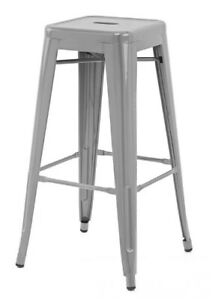 Bar/Counter-Height Stacking Metal Stools (2)