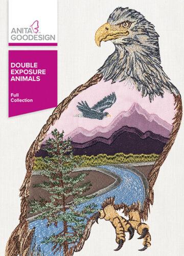 Anita Goodesign Double Exposure Animals Embroidery Machine Design CD