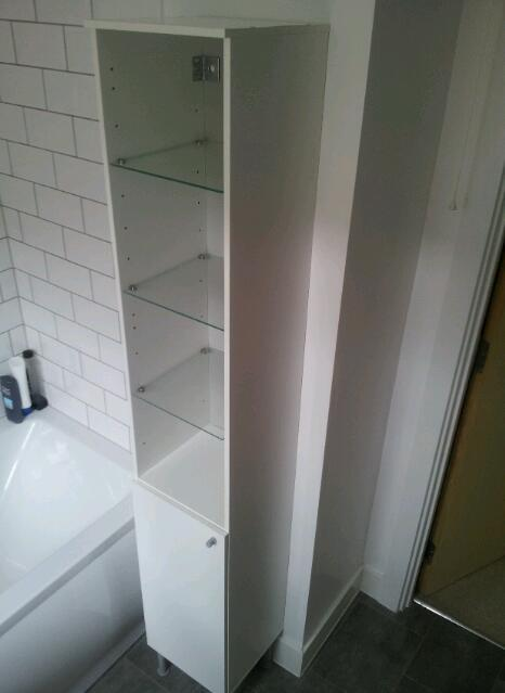 fullen bathroom cabinet ikea fullen bathroom cabinet white and glass in 15671