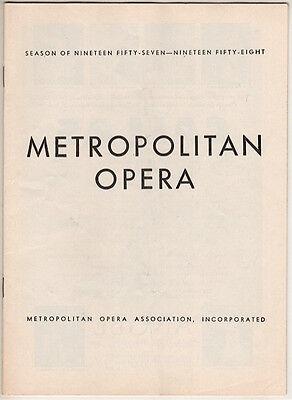 "Metropolitan Opera Playbill ""Lucia Di Lammermoor"" 1957 Richard Tucker"