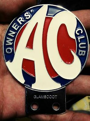 AC OWNERS CLUB CAR BADGE BRITISH LEYLAND mini cooper MG morris minor