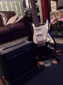 Guitar amp and stand