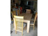 DINNING ROON TABLE AND 6 HIGHT BACK CHAIRS
