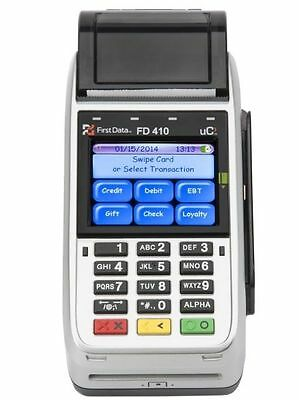 First Data Fd410dw Emv Nfc Wireless Credit Card Machine -100 Guaranteed