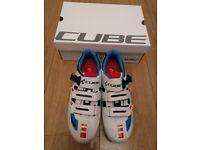 Cube Road Pro Cycling Bike Shoes Teamline EU44 UK9 / 9.5 RRP£135 - Brand New