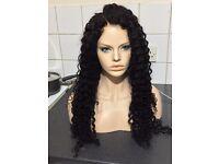 22inch Malaysian full lace wig, deep curl, 150% heavy density