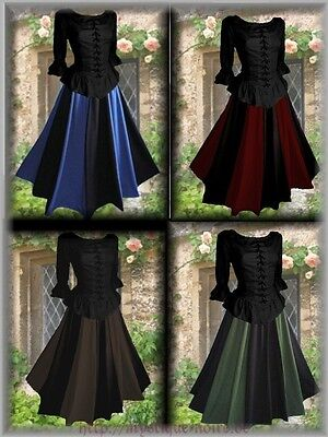 Medival Dresses (Medival Dress Skirt + Blouse Baroque Larp Reenactment)