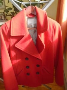 manteau court rouge OLD NAVY