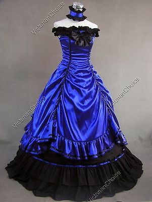 Southern Belle Victorian Saloon Girl Dress Masquerade Ball Gown Steampunk 135](Southern Belle Dress)