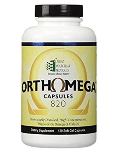 Ortho Molecular Orthomega 820 120 Capsules