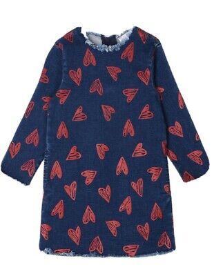 Stella McCartney Kids Denim Hearts Print Dress