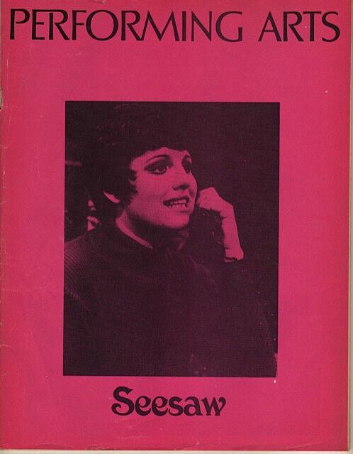 "Tommy Tune, Lucie Arnaz ""Seesaw"" Program/Playbill 1974 Los Angeles John Gavin"