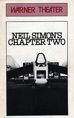 "Jerry Orbach ""Chapter Two"" Playbill 1977 Washington Neil Simon"