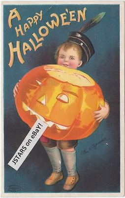 1909 A HAPPY HALLOWEEN, CLAPSADDLE SIGNED POSTCARD](Happy Halloween Postcards)